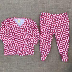 Stem organic cotton kimono top & pants 2-piece set